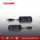 Black 3.5 mm Plug Mini Transmitter and Receiver for Best Wireless Audio Application