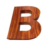 Wood Grain Letter Sign with Galvanized
