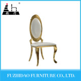 Comfortable Cushion Armless Gold Stainless Steel Legs Dining Chair