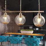 Modern Style Design Golden Color Ball Hanging Glass Light