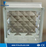 Transprarent / Clear Rhombus Pattern Glass Block (G-B)