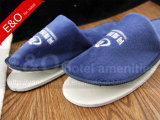 Semi-Finished EVA Sole Cotton Fabric Woven Disposable Hotel Slippers
