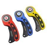 Replaceable 45mm Blades Sewing Tailors Top Fabric Hand Rotary Cutter