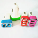 Fast Charger Mini Car Charger 5V/2.1A+2.1A+1A for iPhone 6 5 5s Samsung S4 S5 Note 2 3 iPad 3 4