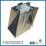 Custom Silver Foil Paper Gift Bag with Gift Card