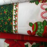 Christmas Design Printed Polyester Minimat Fabric