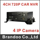 4 Channel Car IP DVR, 720p Video, for Bus, Taxi, School Bus Used