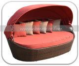Mtc-176 Outdoor Resin Wicker Daybed with Canopy Rattan Sofa Bed