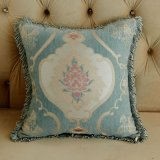 Luxury Jacquard Tassel Edge Decorative Pillow Sofa Cushion