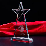 Crystal Triangle Shape Award Stand Custom Made Crystal Trophy