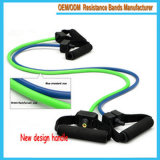 Customize Natural Rubber Latex Resistance Bands with Adjustable Foam Handles for Exerciser