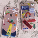 Transparent TPU IMD Mobile Phone Case with Custom Pattern