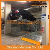 Two Post 2 Floor Hydraulic Tilting Car Parking System