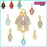 Manufacturer Custom Cheap Enamel Hamsa Jewelry Necklace Pendant
