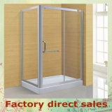 Simple Hotel Sanitary Ware Temper Glass Shower Cabin (A-025)