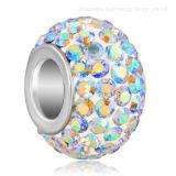 Wholesale Fashion Charm Rondelle European Big Hole Crystal Beads