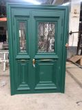 New Design American Aluminum Tempered Glass Swing Security Door