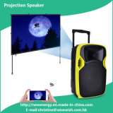 Professional 12 Inches Portable Loudspeaker with LED Projector