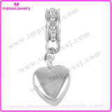Heart/Round Shape Cremation Charms Necklace Putting Ashes in