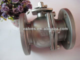 Dn200 DIN3202/F5 Two Pieces Flanged Ball Valve Pn16