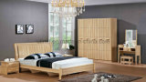 High Quality Wooden Double Bed Bedroom Furniture (UL-LF023)