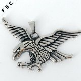 Vintage Eagle Necklace Pendant Stainless Steel Men Cool Accessories