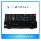 Hevc/H. 265 DVB-S2+T2/C Twin Tuners Zgemma H5 Linux OS E2 FTA Digital Receiver