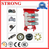Three-Transmission Driving Mechanism for Construction Hoist with Motor/Related Part