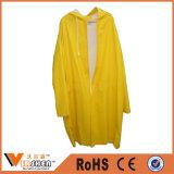 Yellow Polyester Raincoats Long Sleeve Waterproof Rain Coats