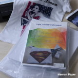 Dark Inkjet Heat Transfer T Shirt Printing Cotton Paper for 100% Cotton Fabric