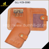 Bi Fold Fashion Leather Key Case with Snap Closure