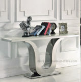 Special Design Hotel Furniture Silvery Hallway Table (X8817)