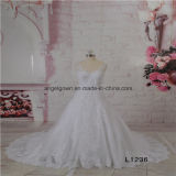 Lace A Line Sleeveless Wedding Bridal Dress