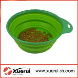Portable Unbreakable Collapsible Silicone Pet Dog Bowl