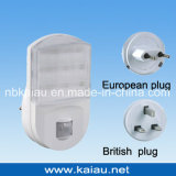 220V UK Plug Motion Sensor LED Night Light