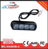 12/24V 4 LED Strobe Surface Mount Warning Light Amber Flashing Light