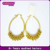 Alloy Jewelry Lettering Circle-Shape Earrings Jewelry