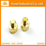 Customized Diamond Knurled Head Brass CNC Precision Turned Machinery Parts