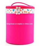 Pink Satin Material Fashion Round Cosmetic Bag (KCC88)