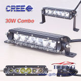 Single Row CREE 30W LED Light Bar with 3D Reflectors
