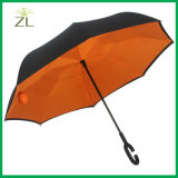 High Quality C Shape Handle Folding Double Layer Reverse Inverted Umbrella