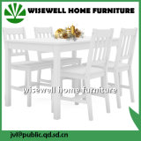 Solid Wood Dining Room Furniture Set (W-5S-94 WT)