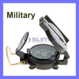 Multifunction Mini Military Camping Marching Lensatic Compass Magnifier Army Green Buckle Clip (OD311)
