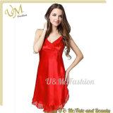 OEM Women′s Silk Lingerie Pajamas Sleepwear Nightgown Sexy Lingerie Nightwear