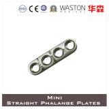 Titanium or Ss Mini Straight Phalange Plate