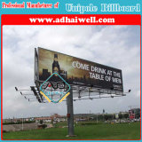 Three Sided Hot DIP Galvanized Steel Construction Advertising Billboard Structure