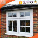 Fixed Window with Full Divided Light Window, White Color Solid Oak Wood Clad Thermal Break Aluminum Casement Window
