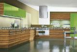 UV High Glossy Waterproof Woodgrain Kitchen Cabinet (ZH-3946)