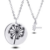 Fashion Engraved Dandelion Pendant Necklace, Mother Daughter Family Jewelry Gift