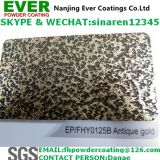Electrostatic Spray Antique Gold Vein Hammer Tone Texture Powder Coating Paint